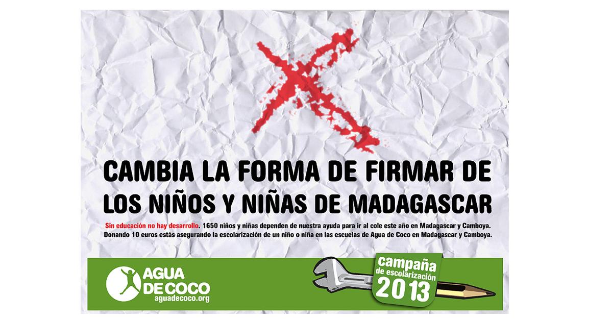 Campaña Escolarización 2013