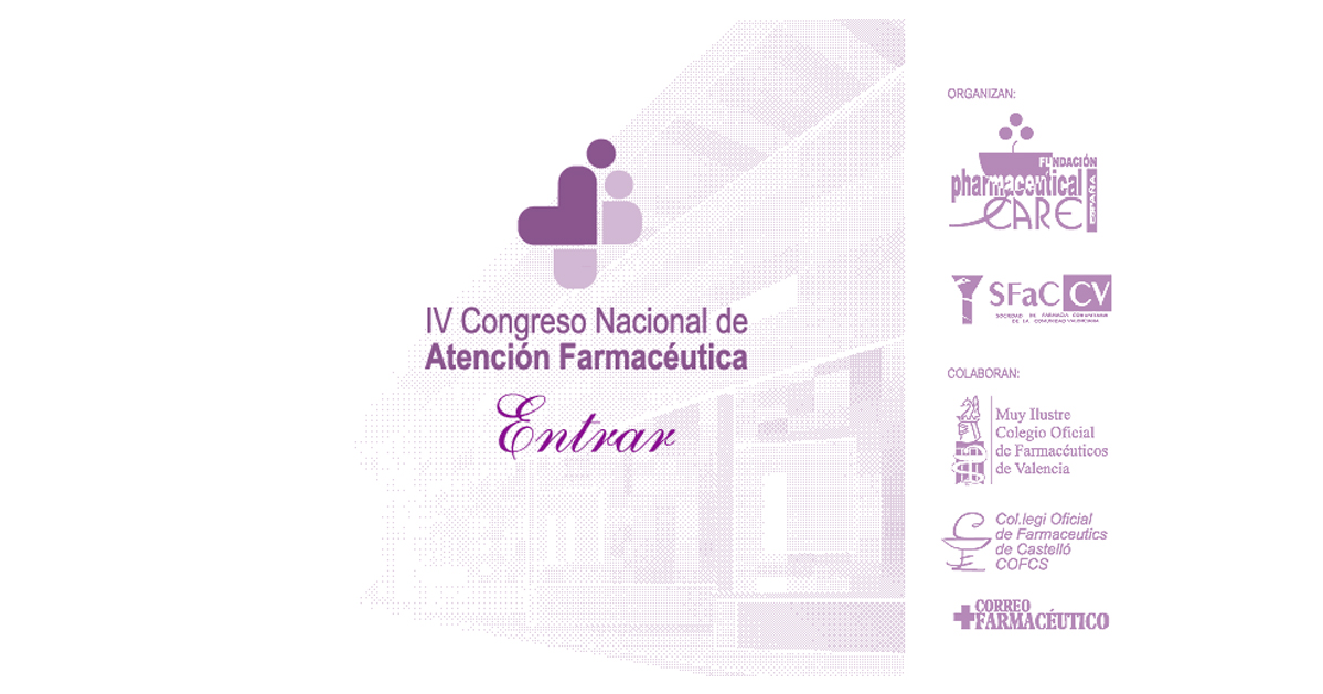 IV Congreso Nacional de Atención Farmacéutica.